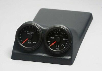 85-87 Regal GN GNX Grand National CONSOLE 2 Pod for 52 MM 2-1/16 Gauges Med Gray