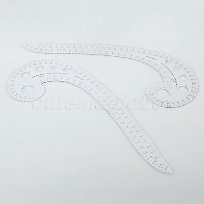 Plastic Curve Ruler Comma Shaped Styling Design Ruler Sewing Accessories 30x11cm
