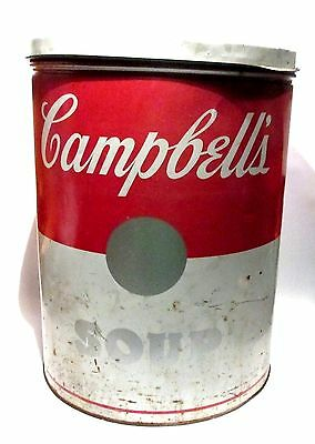 Rare 1966 Huge Campbell's Soup Can Store Display Pop Art After Warhol