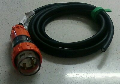 IP66 32Amp Weather proof Single Phase Plug and 4M cable