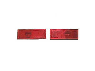 81-88 Cutlass 442 Rear Quarter Panel Side Marker Light Lens RED Pair LH RH