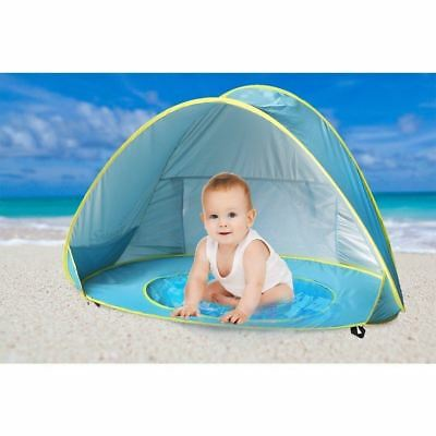 Baby Beach Shade Pool, Sunba Youth Pop Up Tent, UV Protection Sun Shelters Blue