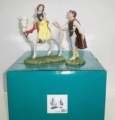 """Wdcc Snow White & Prince Set """"away To His Castle We'll Go..to Be Happy Forever"""""""