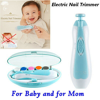 Newborn Baby Electric Nail Trimmer Infant Nail Clipper Nail Cutter Polisher