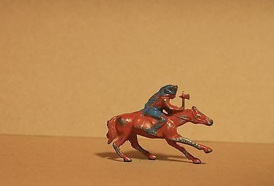 Vintage Johillco Lead Toy American Indian Chief On Horse -100% Original - V 863