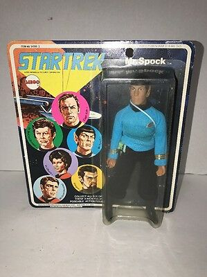 Mego Star Trek Spock Action Figure 1974 All Original. White Letters, Unpunched!!