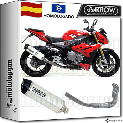 Arrow Sistema Escape Race-Tech White Carbon-Cup Hom Bmw S 1000 R 2014 14 2015 15