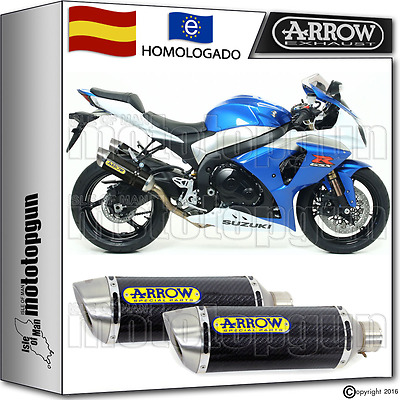 Arrow 2 Tubo De Escape Thunder Carbono Hom Suzuki Gsx-R 1000 2009 09 2010 10