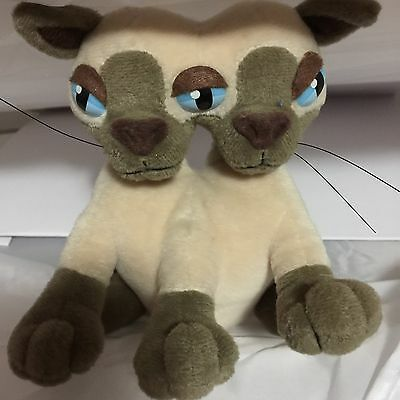 The Idea Factory Meanies Si and Mia Siamese Twin Cats Plush Beanbag Stuffed Toy