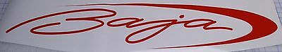"BAJA 8.25 x 40"" correct BAJA BOAT DECALS 1 decal - red  Vinyl LARGE + 2 small"