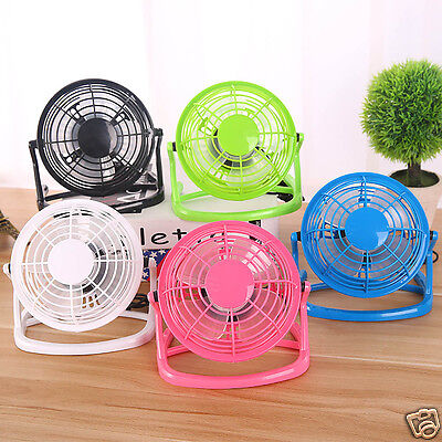 Super Mute DC 5V Small Desk USB 4 Blades Cooler Cooling Fan USB Mini Fans