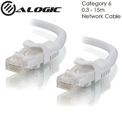 ALOGIC CAT6 Network Cable White C6-XX-White Lifetime Warranty from 0.3m to 15m