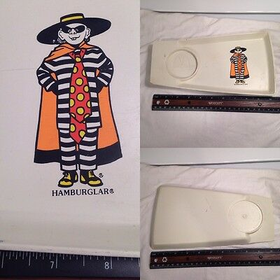 Vintage 1970'S McDONALDS FAST FOOD PLASTIC TRAY Kid's Happy Meal HAMBURGLAR