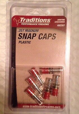Traditions Performance Firearms Plastic Handgun Snap Caps .357 Magnum NEW ASC357