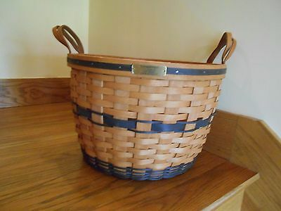 Longaberger JW Collection Corn Basket classic navy with tag *free shipping!*