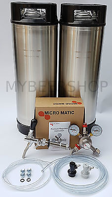 PRO BALL LOCK KEGGING KIT with MICROMATIC REGULATOR HOME BREW BEER KEG SYSTEM
