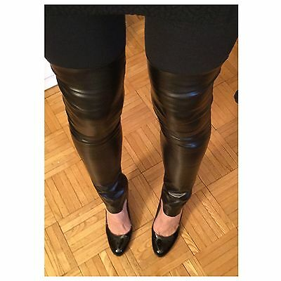 Faux Leather Stretch Leg Warmers