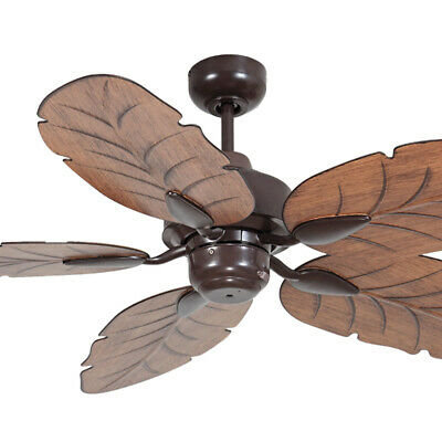 """NEW Mercator Cooya 52"""" Moulded ABS Leaf Blade Outdoor Ceiling Fan - FC190135"""