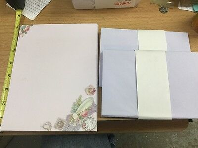 Victorian Stationary Set 80 pieces, 50 Sheets & 30 Envelopes, Gorgeous