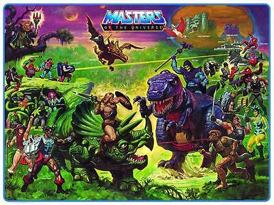 He-Man POSTER Preternia Character Map Masters of the Universe VERY LARGE He Man