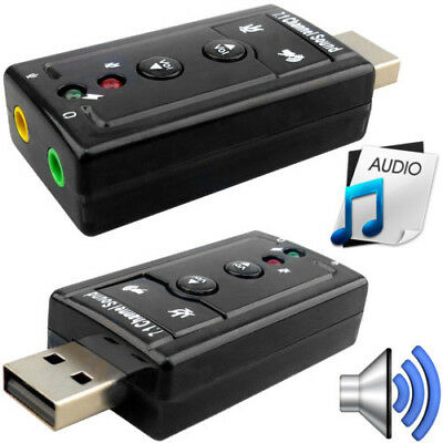 For Win XP/7/8 Android Linux External USB 2.0 to 3D Audio USB Sound Card Adapter