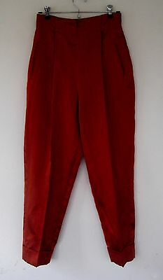 vintage ROMEO GIGLI 1980s early 90s high waist silk pants with cuffs