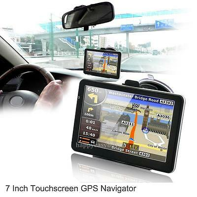 """7"""" HD Touch Portable Truck Car GPS Navigator Navigation with Free Lifetime Maps"""