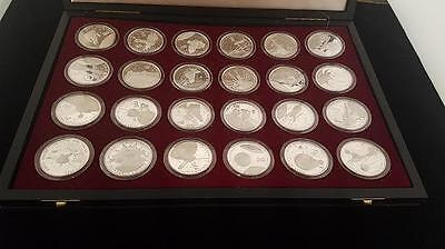The Milestones of Space Exploration $50 Silver Proof Coins Marshall Islands