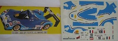 FERRARI 333 SP n° 10 PILOT LE MANS 1998  DECAL 1/43e