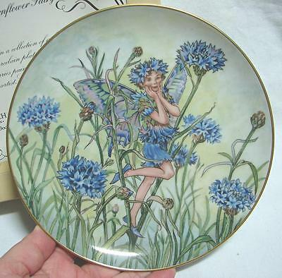 vintage Heinrich Villeroy & Boch The Cornflower Fairy Plate boxed certificate