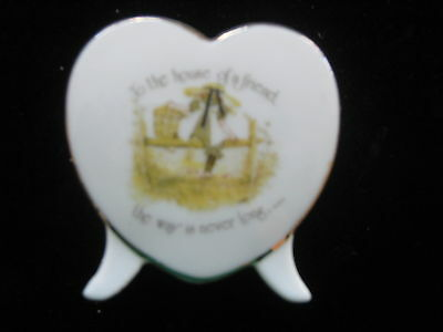 Vintage Holly Hobbie To The House Of A Friend Heart Shape Candle Holder