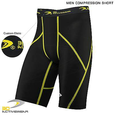 Mens Top Compression Shorts Sports Briefs skin tight fit gym Runing Base layers
