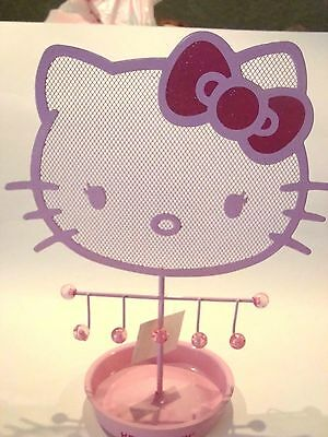 Hello Kitty Earring Necklace Ring Jewelry Holder Organizer - Pink - New W/ Tags