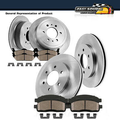 Ceramic Pads for 2005-2017 Nissan Frontier 2WD Equator Front Brake Rotors