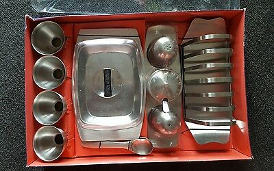 Vintage Retro 60/70s Benray Stainless Steel Breakfast Set