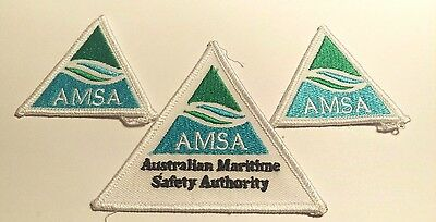 Three Australian Maritime Safety Authority  Patches / Badges