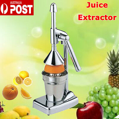 Manual Silver Juicer Juice Extractor Hand Press Squeezer Orange Apple AU POST