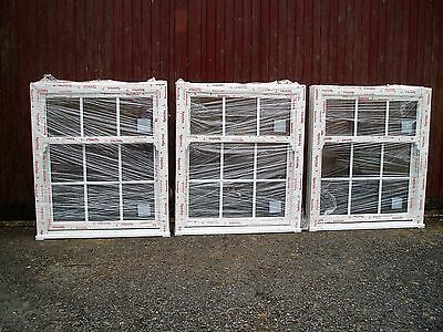3 identical double glazed sliding sash windows, unused