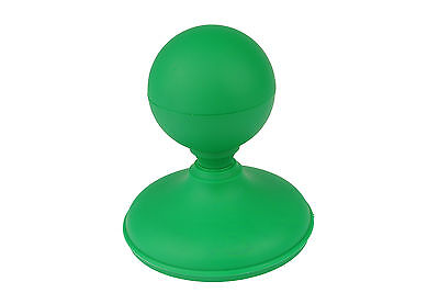"Linic 1 x Green Sphere Fence Top Finial + 4"" 100mm Round Post Cap UK Made GT0019"