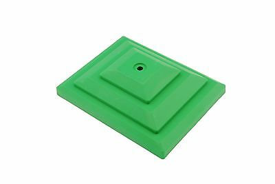 "Linic 10 4"" x 3"" Green Plastic Fence Post Top Cap Finial Rot Proof UK Mde GT0054"