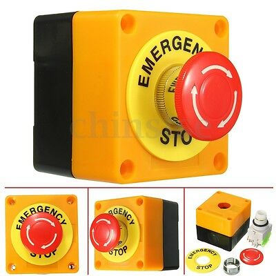 Emergency Red Sign Stop Push Switch Button Mushroom 1 NO 1NC 10A 660V Waterproof