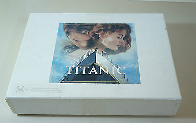 TITANIC DELUXE VHS COLLECTORS BOX SET WITH FILM CELLS - SCRIPT - 10 x 8s