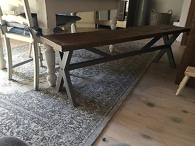 Lovely Rustic Shabby Chic Table Bench Seat Grey Wood
