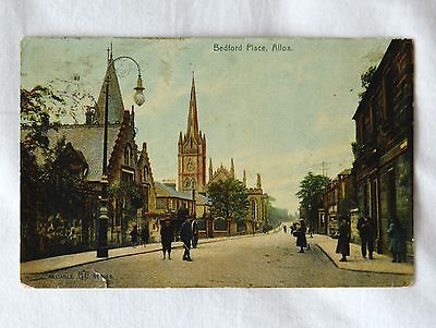 VINTAGE POSTCARD ALLOA, SCOTLAND Bedford Place 1907
