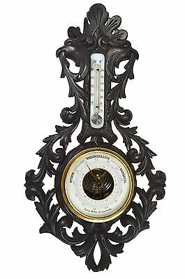 Antique Griffin and Leaf Carved Barometer, German.