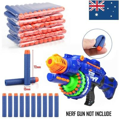 10-1000pcs Toy Refill Gun Darts Blasters Elite NERF N-Strike Round Head Bullets