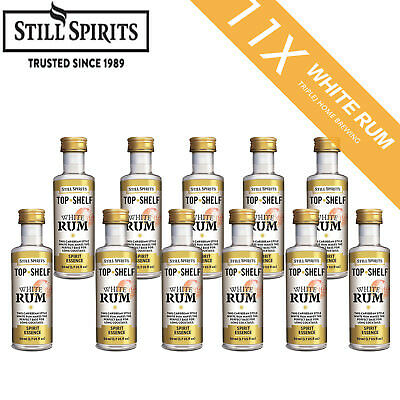 11 x Still Spirits Top Shelf White Rum spirit Home Brew Essence
