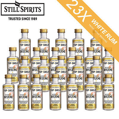 23 x Still Spirits Top Shelf White Rum spirit Home Brew Essence