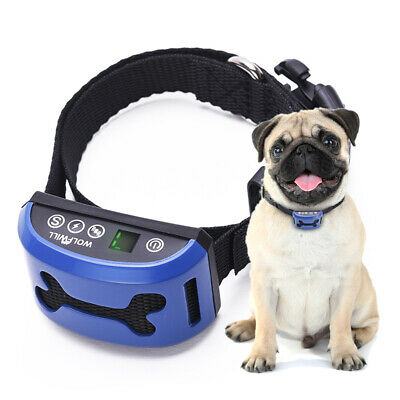 Waterproof No Bark Dog Training Collar Electric Shock & no shock Harmless Anti