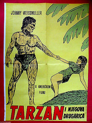 Tarzan And His Mate 1934 Johnny Weissmuller  O'sullivan Unique Exyu Movie Poster
